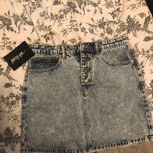 Acid wash mini jean skirt! Nasty gal